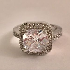 Jewelry - Princess Design Cushion Cut Solitaire Ring